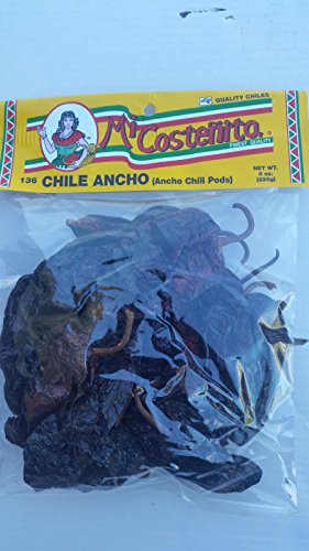 Chiles Poblano - Chile Ancho - 8 Oz. - Ancho Chili Peppers - Dried Poblano Pepper - Mild to Medium Heat - Sweet & Smoky Flavor