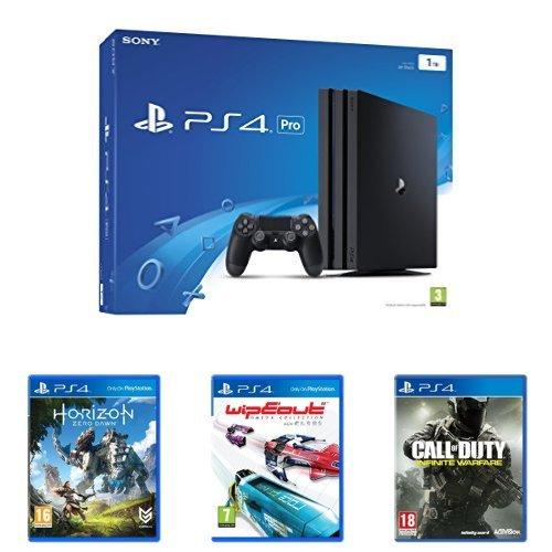 Sony PlayStation 4 (1TB) Pro + Horizon Zero Dawn + Wipeout + Call of Duty: Infinite Warfare
