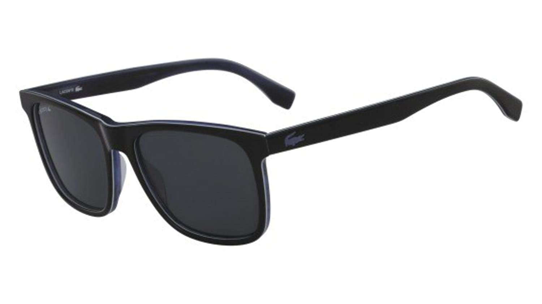 e58d5a5f5b92 Sunglasses LACOSTE L 875 SP 001 BLACK WHITE BLUE at Amazon Men s Clothing  store