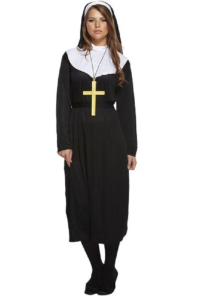 Nuns Kit Nun Fancy Dress Smiffys Headpiece Ladies Hen Costume Party Collar