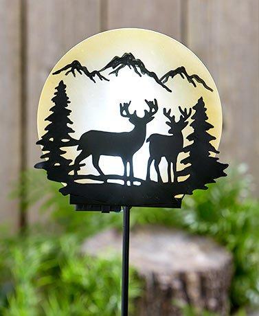 Woodland Solar Moon Stakes ( Deer - Hi Woodland