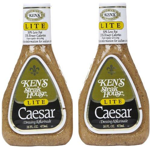 Ken's Light Caesar Dressing, 16 Ounce, 2 pk (Best Light Caesar Dressing)
