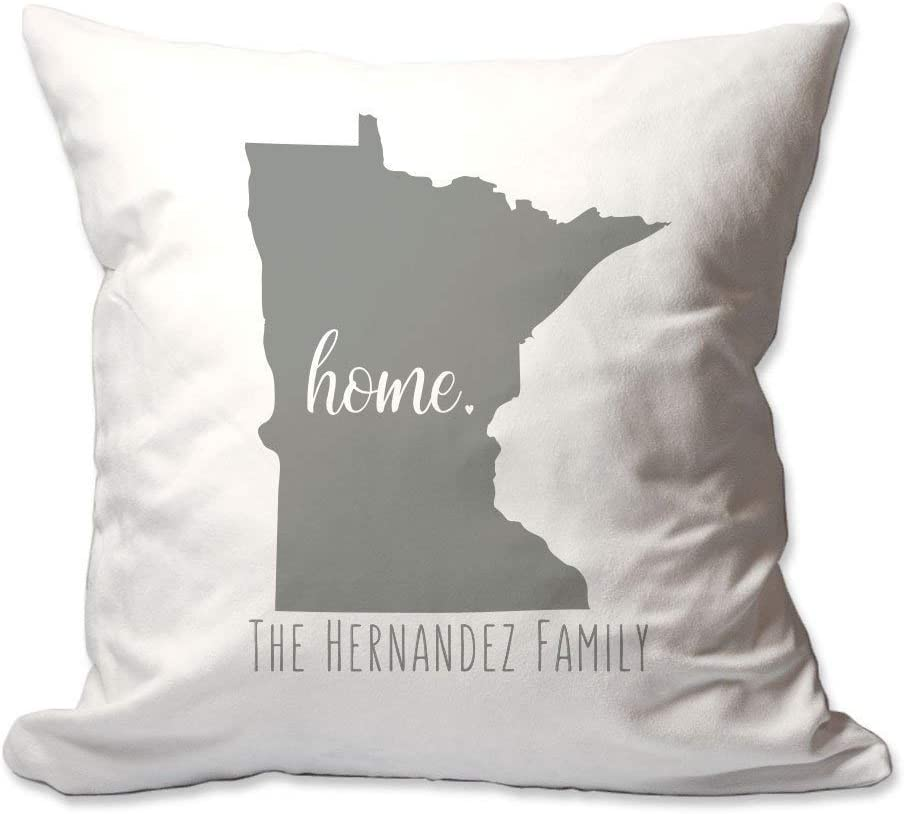 Pattern Pop Personalized State of Minnesota Home Throw Pillow Cover - 17X17 Throw Pillow Cover (NO Insert) - Decorative Throw Pillow Cover - Soft Polyester