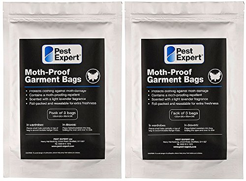 Moth Proof Garment Bags (2 x 3 pack) - Pest Expert