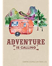 """Camping Journal & RV Travel Logbook, Red Vintage Camper Adventure: Road Trip Planner, Caravan Travel Journal, Glamping Diary, Camping Memory Keepsake and Family Vacation Planner, 7"""" x 10"""" Camping Notebook & Motorhome Campsite Record Book, 160 pages / 80 Trips (Gift for Campers & RV Retirement Gifts Series)"""