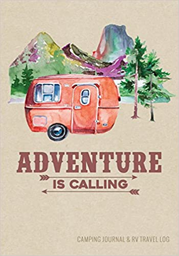 camping journal rv travel logbook red vintage camper adventure