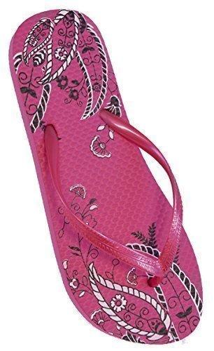 Mujer Estampado Cachemira Diseño Chanclas De Goma / Zapatillas De Playa Rosa