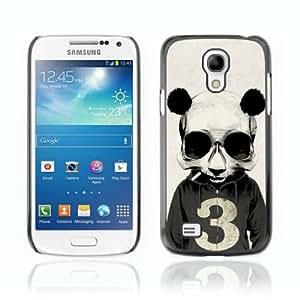 Designer Depo Hard Protection Case for Samsung Galaxy S4 Mini / Smoking Panda Hoodie