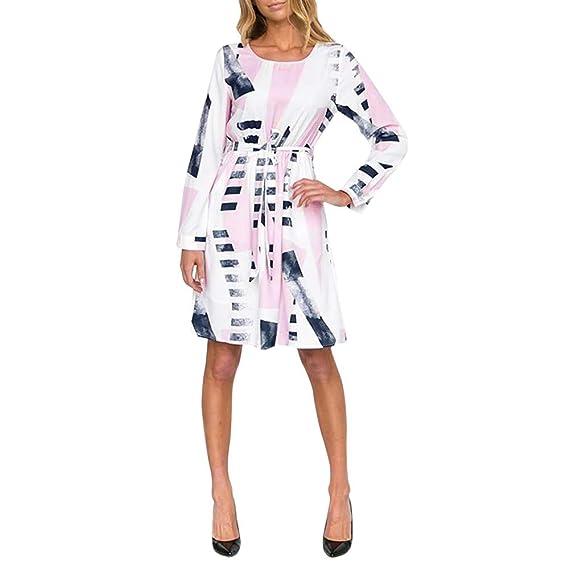 ❤️Vestido Casual Irregular para Mujer,Vestido Estampado con Forma de Mujer Absolute