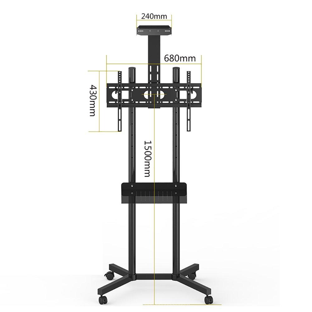 会議室フロアスタンドテレビブラケット32-70インチプラズマ/液晶/LEDスクリーン垂直ユニバーサルユニバーサル移動可能なカートパレット、高さ150センチメートル (Color : Style 2)   B07DK39DWP