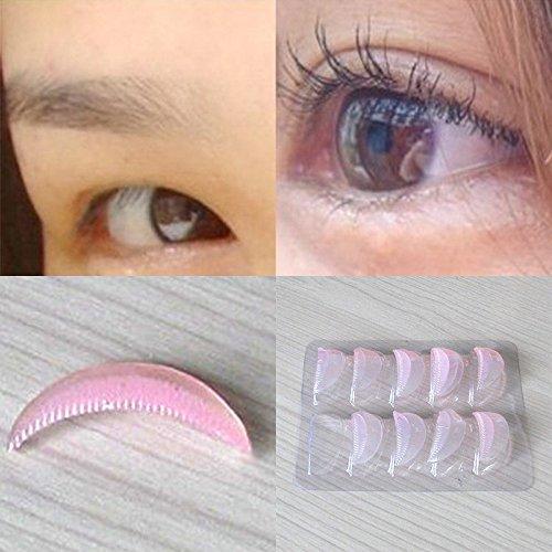 Aranher(TM) 5 Pairs Silicone Eyelash Curler Curling Perming False Eye Lashes Shield Pad Kit
