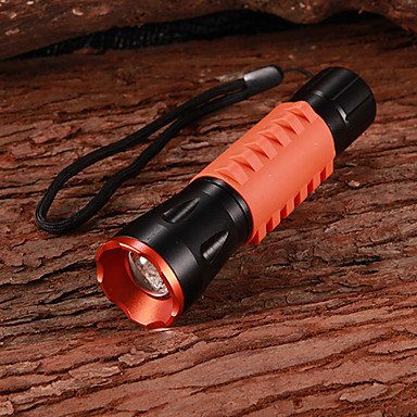 NEW-317 Cree XR-E Q3 3-Mode 270LM White LED Zoom Convex Lens Flashlight with Strap (3xAAA)