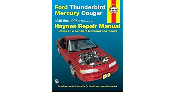 ford thunderbird mercury cougar automotive repair manual models rh amazon com 1997 Ford Mercury 1997 Mercury Sable