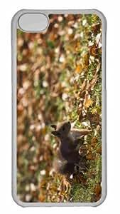 Customized iphone 5C PC Transparent Case - Squirrel Autumn Personalized Cover
