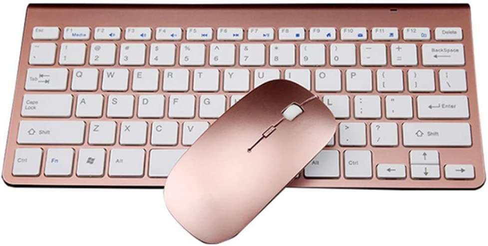 HOUER Wireless Keyboard and Mouse Set Game USB Ultra-Thin 2.4g Mini Mouse and Keyboard Laptop Desktop