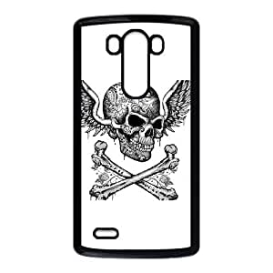 LG G3 Cell Phone Case Black Cross Bone Skull SLI_744021