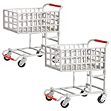 Set of 2 Shopping Carts for WWE Wrestling Action Figures