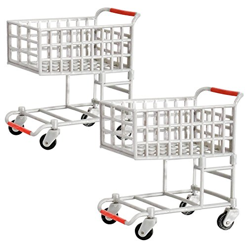 Set of 2 Shopping Carts for WWE Wrestling Action Figures by Figures Toy Company