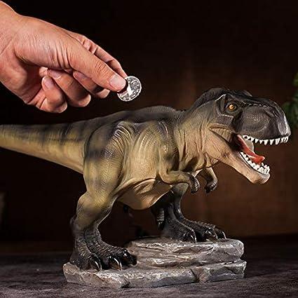 Colias Wing Home Decor Unique Tyrannosaurus//Stegosaurus//Brachiosaurus Dinosaur Series Shape Stylish Design Coin Bank Money Saving Bank Toy Bank Cents Penny Piggy Bank-Brown//Yellow//Green
