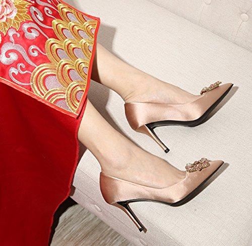Mariage Chaussures Femmes De D'étéTravaux Talons Dames Pointu Sandales De Champagne6cm D'honneur Demoiselle Hauts Sexy Élégantes Travail Strass 08nTZf0