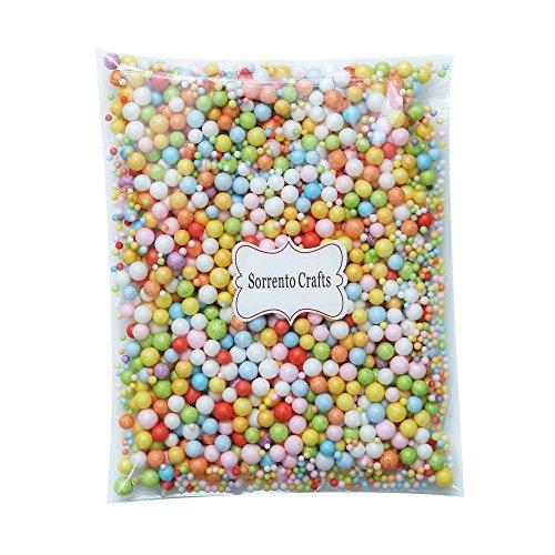2-10mm(0.08-0.39inch) Mini Styrofoam Foam Balls Decorative Slime Ball DIY Wedding Party School Home Decoration 10g/lot (Mixed Colors 1)