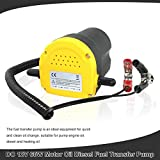 12V 60W Oil Extractor Pump Diesel Fluid Extractor Pump, Oil Suction Fuel Transfer Pump 250L/Hour and Tubes for Auto Car Boat Motorbike Truck RV ATV Jet