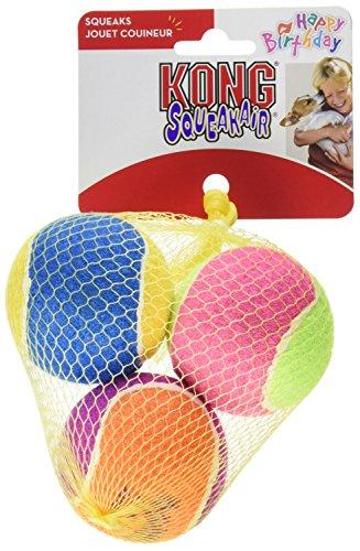 - KONG Air Dog Squeakair Birthday Balls Dog Toy (9 Balls), Medium
