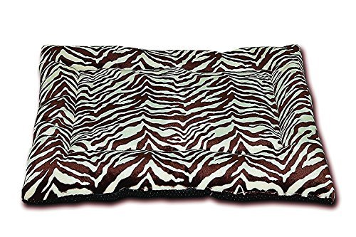 HappyCare Textiles HCT MAT-001 Printed Super Touch Micro Mink Dog and Pet Mat, Chocolate Zebra For Sale