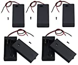 LAMPVPATH 5Pcs 2 AA Battery Holder with Switch, 2X