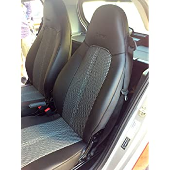 Amazon.com: Classic Synthetic 100% Custom Fit TWO Car Seat Covers ...