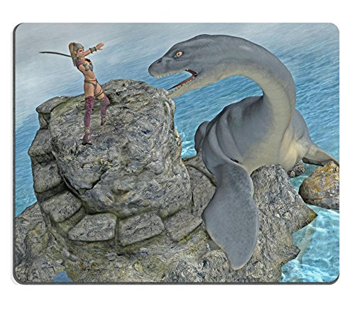 MSD Mouse Pad Natural Rubber Mousepad Mousepad IMAGE ID: 10442761 sea monster attack