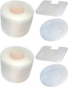 Eztronics Corp 2 Pack Foam Felt Filter Replacement Shark Navigator UV410 NV36 NV36A NV42 NV44 NV46 NV46C Upright Vacuums Filter Set Replace #XFF36