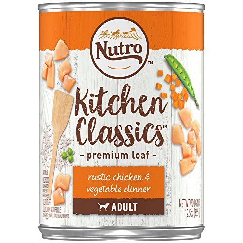 DISCONTINUED: NUTRO Kitchen Classics Adult Wet Dog Food, Rustic Chicken & Vegetable Dinner Premium Loaf 12.5 Ounce Cans (Pack of 12); Rich in Nutrients and Full of Flavor; Supports Healthy Digestion & Healthy Skin and Coat