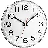 TFA 60.3017 - Reloj de pared electrónico, 300 mm, color plata