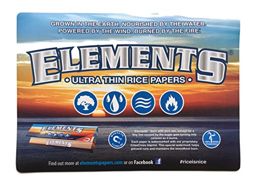 Elements Ultra Thin Rice Rolling Papers - Counter Change Mat Large - Desk Mouse Pad - Cigar Rolling Papers Large