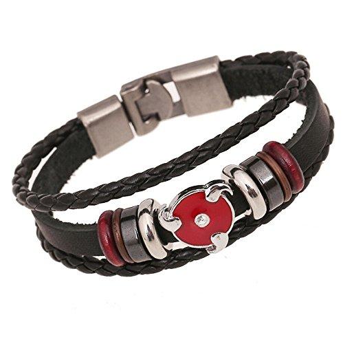 Most Beloved Punk Gothic Rock Hot Wheels Leather Bangle Cuff Bracelet Wristband
