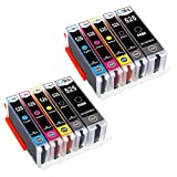 LxTek Ink Cartridges Compatible with Canon 525 526 PGI-525 CLI-526 for Canon PIXMA IX6550 MX885 MX895 IP4800 IP4900 IP4850 IP4950 MG5100 MG5150 MG5200 MG5250 MG5350 MG6150 MG6250 MG8150 MG8250