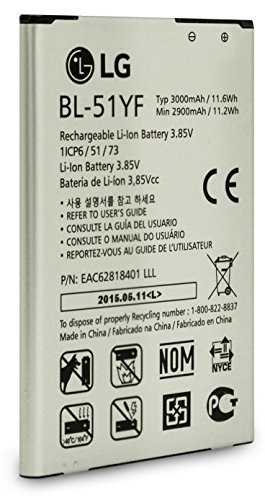 Extended Battery Bat - LG BL-51YF 3000mAh Standard Li-Ion Extended OEM Battery for LG G4 Phone Non Retail Package(Renewed)