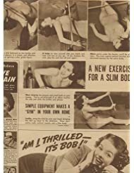 Exercise girl in 1940's original clipping magazine photo 1pg 9x12 #R3178