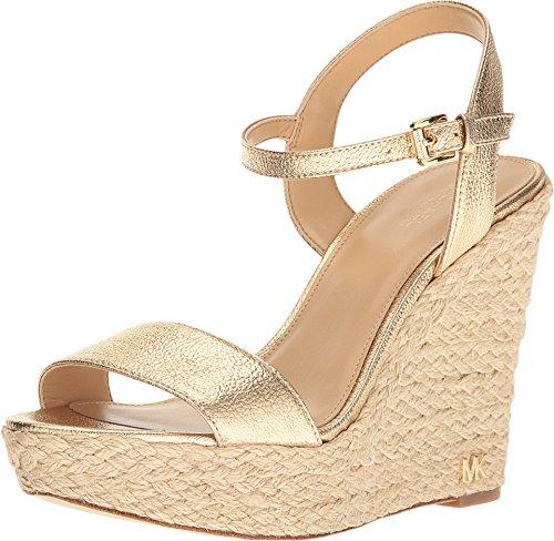 Michael Kors Womens Jill Open Toe Casual Platform Sandals, Pale Gold, Size 10.0