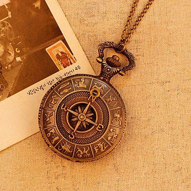 Bolsillo de mapa antiguo de la vendimia antigua roma patrón brújula analógico de cuarzo relojes del