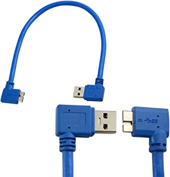 USB 3.0 Micro B Cable 30Cm//1ft external hard drive cable 5Gbps High Speed D800E