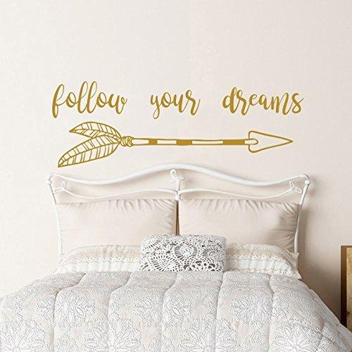 Amazon.com: Follow Your Dreams Wall Decal Quote Arrow Nursery Quotes ...