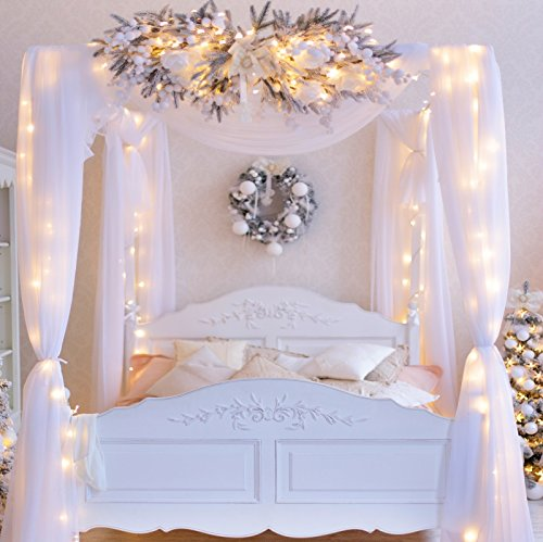 Yeele Bouquet Archway Backdrops 9x9ft/2.7 X 2.7M Indoor Bedroom Bridal Shower Decoration Wedding Ceremony LED Light Pictures Adult Artistic Portrait Photoshoot Props Photography Background ()