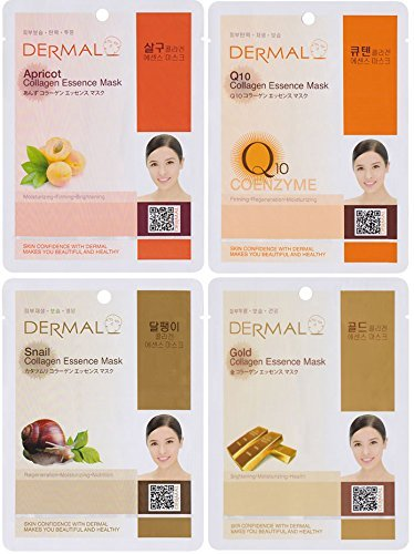 DERMAL Collagen Essence Full Face Facial Mask Sheet (Pack of 24) by DERMAL (Image #2)
