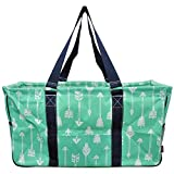 N. Gil All Purpose Open Top 23' Classic Extra Large Utility Tote Bag 3 (Arrow Mint Green)