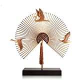 FECTY Fan-Shaped New Chinese Ornaments Living Room Office Creative Home Decoration Ornaments Home Decorations Home Decoration (Color : 37934cm)