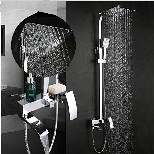 Gowe shower faucet wall mount bidet faucet Rainfall shower mixer tap muslim toilet sprayer bath shower set shower system 2