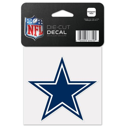 WinCraft NFL Dallas Cowboys Decal4x4 Perfect Cut Color Decal, Team Colors, One - Denver Hard Hat Broncos Nfl