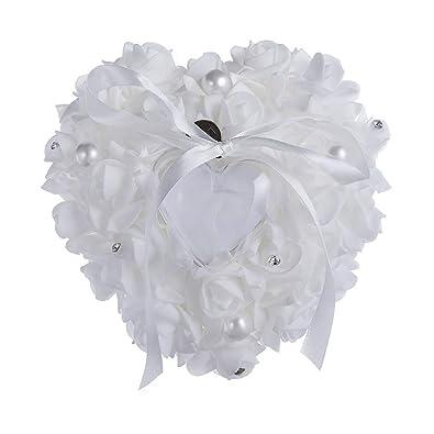 Esoes Romantic Rose - Cojín con Forma de corazón para ...